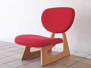 天童木工 TENDO 低座椅子 ローチェア 座椅子 レッド ナラ柾目 長大作 デザイン ジャパニーズモダン グッドデザイン賞 ◇