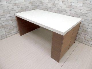 アクタス ACTUS ブラーバ BRAVA ダイニングテーブル 収納付き ピアノ塗装 W150 ●