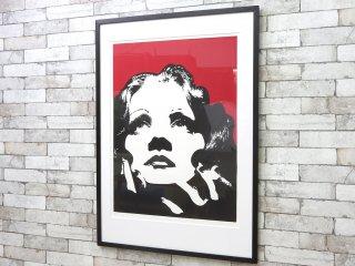 コンラッドリーチ CONRAD LEACH シルクスクリーン マレーネ・ディートリッヒ 大型 ポスター 現代アート ポップアート イギリス ●