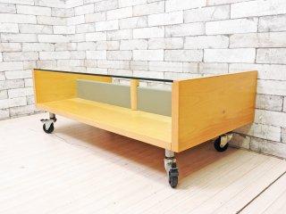 イノベーター INOVATOR スタム STAM リビングローテーブル メイプル材 キャスター付き 北欧家具 スウェーデン製 定価7.2万円 ●