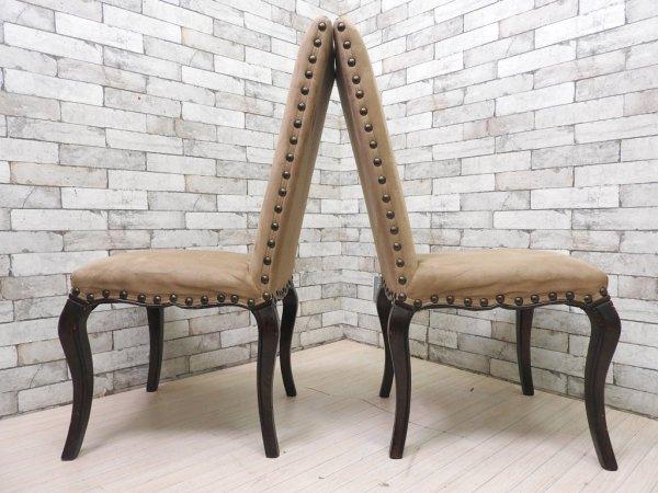 ポッタリーバーン Pottery Barn ダイニングチェア Calais Dining Chair 2脚セット クラシカルスタイル ●