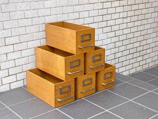 トラックファニチャー TRUCK FURNITURE エージーボックス AG BOX Sサイズ 6個セット ナラ無垢材 鋳鉄 収納ボックス ■