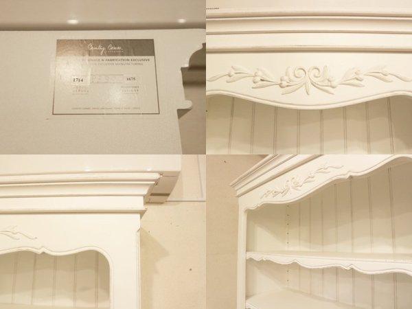 青山キノ kino 取扱 カントリーコーナー ブックシェルフ 本棚 食器棚 ホワイト フレンチカントリー シャビーシック 定価120,000円 ◎