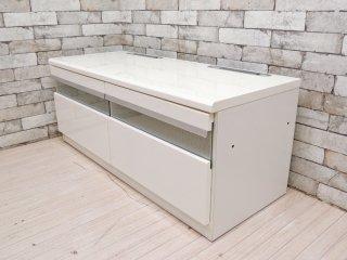 インザルーム in The ROOM ニュープラッツ New PLATZ AVボード TVボード スノーホワイト シンプルモダン 定価¥65,520- ●