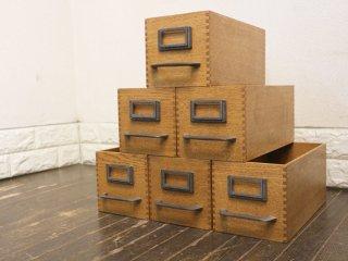 トラックファニチャー TRUCK FURNITURE エージーボックス AG BOX Sサイズ 6個セット ナラ無垢材 鋳鉄 収納ボックス B ◎