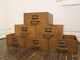 トラックファニチャー TRUCK FURNITURE エージーボックス AG BOX Lサイズ 6個セット ナラ無垢材 鋳鉄 収納ボックス ◎