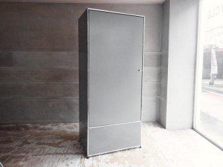 ユーエスエムハラー USM Haller モジュラーファニチャー Modular Furniture ハラーシステム ワードローブ クローゼット ミッドグレー セミオーダー品 ♪