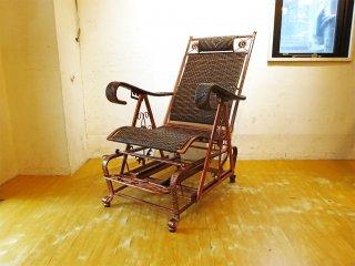 パティオ PVCウィッカー グライダーチェア フットレスト patio Resin Wicker Glider chair ブロンズ塗装 ★