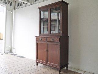 私の部屋 watashi no heya チェルシー Chelsea カップボード 食器棚 真鍮取手 ヨーロピアンクラシック 廃番 定価¥270,000-程 ◇