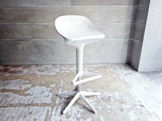 カルテル Kartell スプーン カウンターチェア Spoon Counter Chair ホワイト 昇降機能付き アントニオ チッテリオ Antonio Citterio ♪