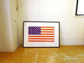 コンラッドリーチ CONRAD LEACH 76 Flag 米国旗モチーフ シルクスクリーン 1/30 アートフレーム ポスター 額装 現代アート ★