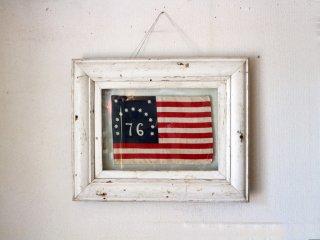 ロンハーマン Ron Herman 購入 76 13スター アメリカ国旗 星条旗 アートフレーム シャビーシック ◎