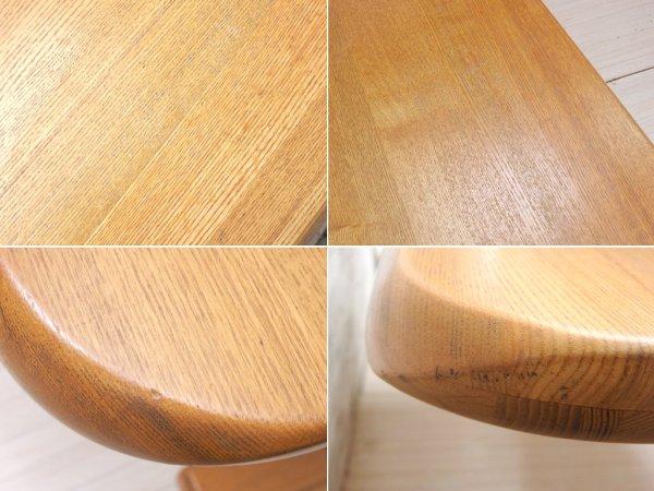 ナチュラルデザイン ダイニングテーブル タモ材 帆立脚 W150 ●