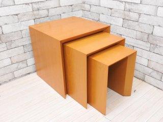 ナチュラルモダンデザイン ネストテーブル サイドテーブル 入れ子式 コンランショップ購入 ●