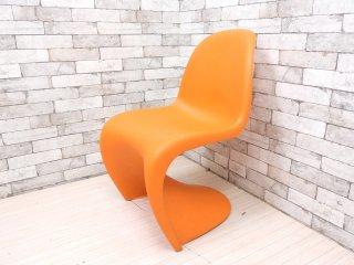 ヴィトラ vitra パントンチェア Panton Chair オレンジ ヴェルナー・パントン Panton スタッキングチェア ミッドセンチュリー スペースエイジ A ●