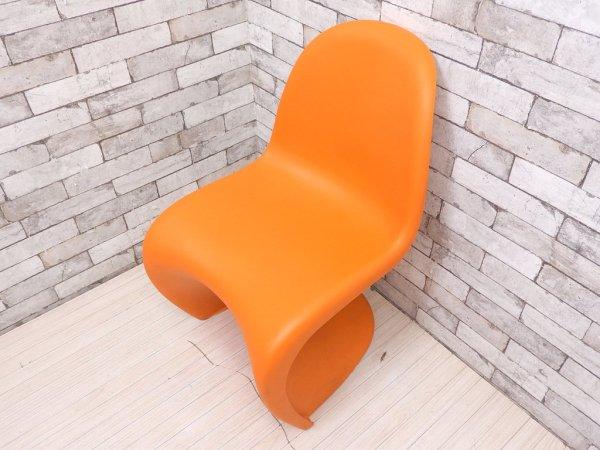 ヴィトラ vitra パントンチェア Panton Chair オレンジ ヴェルナー・パントン Panton スタッキングチェア ミッドセンチュリー スペースエイジ B ●