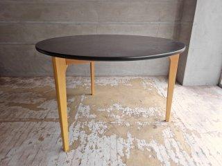 イデー IDEE ダイニングテーブル DCブラック DINING TABLE DC Brown ラウンド タモ材天板 3本脚 長大作 参考価格¥151,800- ♪
