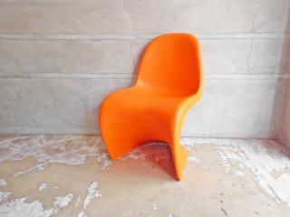 ヴィトラ vitra パントンチェア Panton Chair オレンジ ヴェルナー・パントン Panton スタッキングチェア ミッドセンチュリー スペースエイジ B ♪