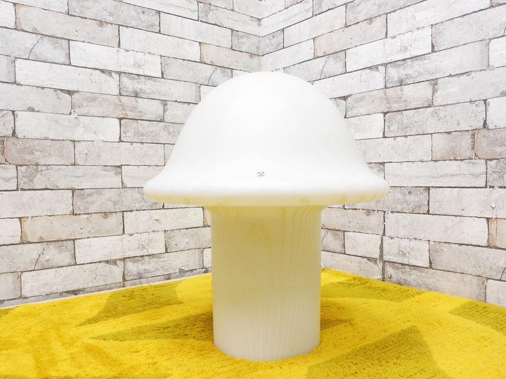パイル&プッツラー Peill&Putzler マッシュルーム ランプ Mushroom Lamp マーブル ガラス デスクライト ドイツ ビンテージ 希少 ヤマギワ取扱 ●