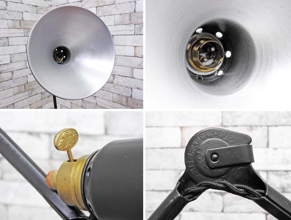 グラ GRAS LAMP 204 + REFLECTOR 1055 クランプ式 デスクランプ ベルナール・アルバン・グラス インダストリアルデザイン フランスビンテージ ●