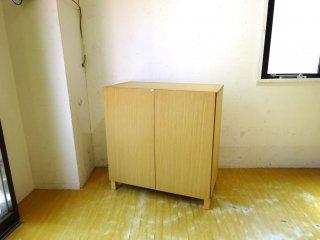 無印良品 MUJI 組み合わせて使える木製収納 ミドルタイプ タモ材 本棚 ブックシェルフ ★