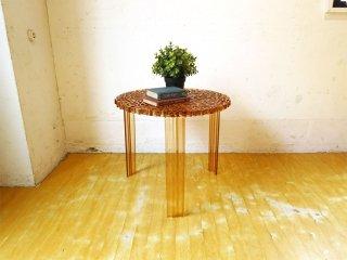 カルテル Kartell ティーテーブル T-TABLE サイドテーブル ハイタイプ 高さ44cm アンバーカラー パトリシア・ウルキオラ ★