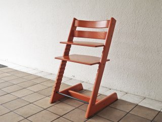 ストッケ STOKKE トリップトラップ TRIPP TRAPP オレンジ ベビーチェア 新型初期 ノルウェー ◇