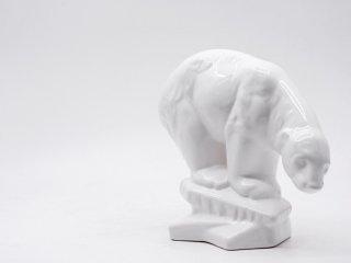 エルパ・アルコバカ ELPA ALCOBACA 陶製オブジェ シロクマ 白熊 フィギュリン 置物 ポルトガル製 ●