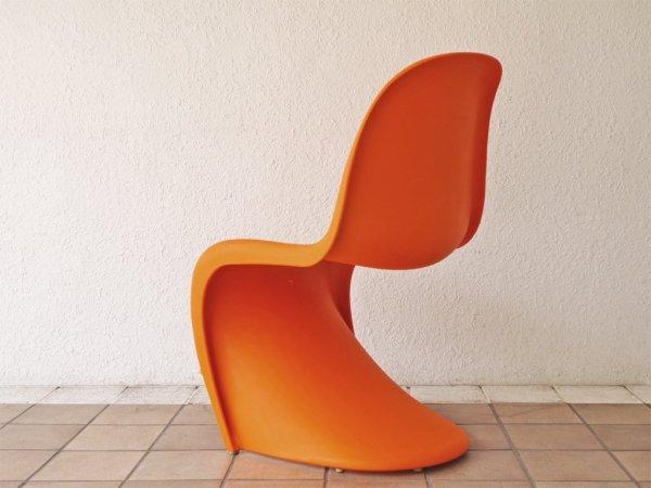 ヴィトラ vitra. パントンチェア Panton Chair オレンジ ヴェルナー・パントン Verner Panton スタッキングチェア ミッドセンチュリー スペースエイジ A ◇