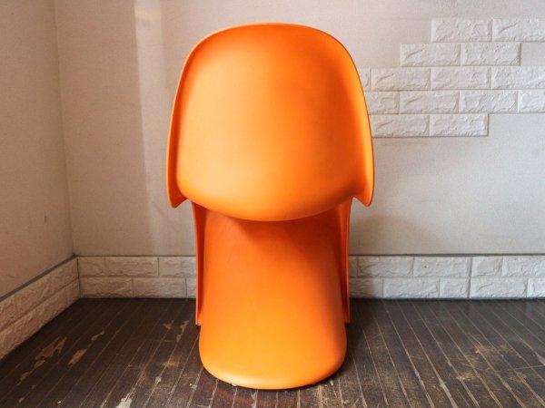 ヴィトラ vitra. パントンチェア Panton Chair オレンジ ヴェルナー・パントン Verner Panton スタッキングチェア ミッドセンチュリー スペースエイジ A ◎