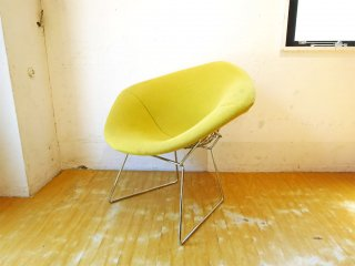ノル Knoll ダイアモンドチェア Diamond Chair ハリー ベルトイア Harry Bertoia フルカバーリング イエロー ★