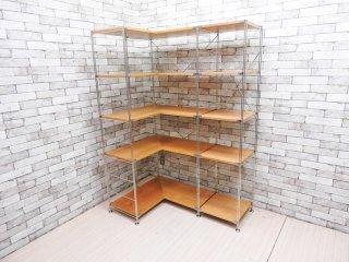 無印良品 MUJI ステンレスユニットシェルフ コーナーシェルフ 5段 オーク材 L字型 シンプルデザイン 総額:¥73,360- ●
