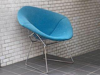 ノル Knoll ダイヤモンドチェア Diamond Chair フルカバーリング ブルー ハリー ベルトイア Harry Bertoia ■