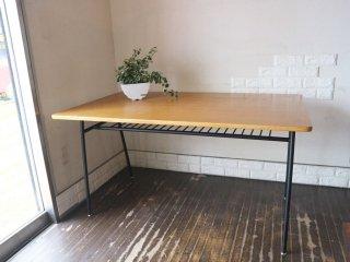 ウニコ unico スクーラ SKOLA ダイニングテーブル オーク材天板 スチール脚 W150 ノスタルジックデザイン ◎