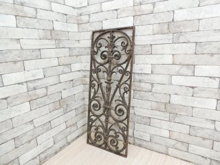 ビンテージ アイアンゲート 窓飾り ウォールデコレーション ガーデンエクステリア シャビーシック A ●
