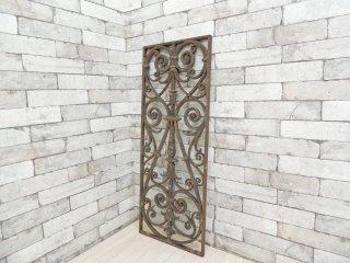 ビンテージ アイアンゲート 窓飾り ウォールデコレーション ガーデンエクステリア シャビーシック B ●