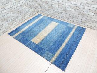 デコラシオン購入 Decoration ギャッベ gabbeh 絨毯 ラグ ブルー系 190×145 ●