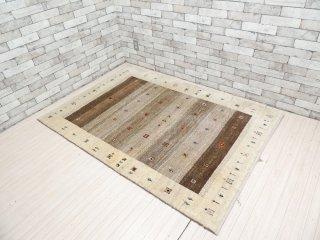 デコラシオン購入 Decoration ギャッベ gabbeh 絨毯 ラグ ベージュ系 180×125 ●