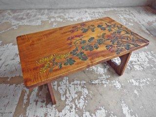 讃岐彫 讃岐漆芸 彫漆 煎茶台 小机 ローテーブル 天然木 民藝家具 ♪