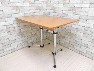 ユーエスエムハラー USM Haller キトステーブル KITOS デスク 長方形 メープル材天板 W99.5cm オフィス家具 フリッツ・ハラー スイス ●