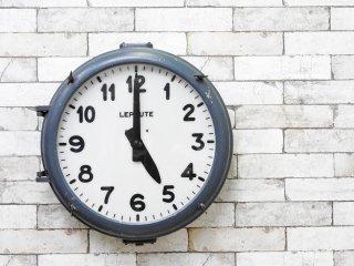 ルポート LEPAUTE社 ウォールクロック 壁掛け時計 鋳造アルミニウムフレーム ディスプレイ&デコレーション用 ジャンク品 1940〜1950年代 フランス製 インダストリアル ●