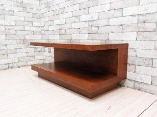 イデー IDEE アティーノ ATINO ソファテーブル ウォールナット材 木製ローテーブル シンプルモダン 廃番 ●