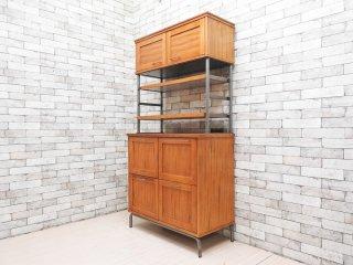 ジャーナルスタンダードファニチャー j.s.F ブリストル BRISTOL キッチンボード 食器棚 カップボード アッシュ材 UKビンテージスタイル 定価:\170,500- ●