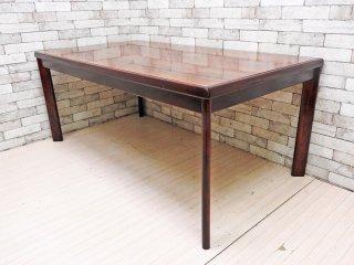 カリモク karimoku デコラトップ 木製 ダイニングテーブル オールドカリモク ビンテージ レトロ W162cm ●