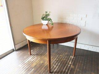 エベネゼル・グーム Ebenezer Gomme ジープラン G-PLAN フレスコ Fresco 伸長式 ダイニングテーブル チーク材 EX W121.5〜167.5cm UKビンテージ ◎