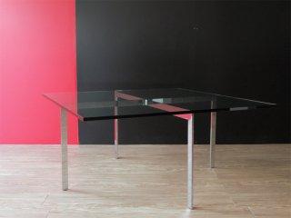 IDC大塚家具取扱い バルセロナテーブル Balcelona Table ガラステーブル ミースファンデルローエ 名作 リプロダクト ●