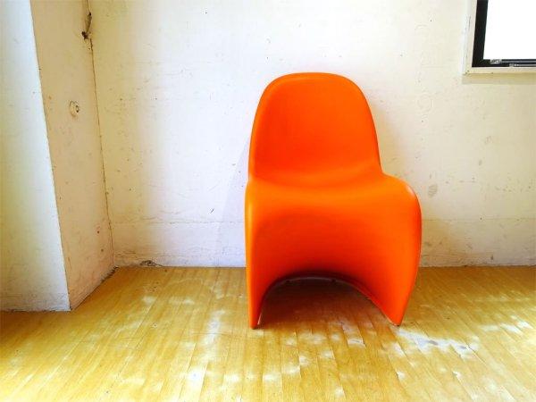 ヴィトラ vitra パントンチェア Panton Chair オレンジ ヴェルナー・パントン Panton スタッキングチェア ミッドセンチュリー スペースエイジ ★
