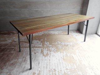 ジャーナルスタンダードファニチャー j.s.F シノン Chinon ダイニングテーブル ワークテーブル Lサイズ W180cm シダー古材 インダストリアル 定価:\113,300- ♪
