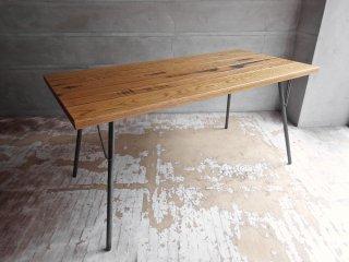 アクメファニチャー ACME Furniture グランビュー GRAND VIEW ダイニングテーブル オーク無垢材 W150cm インダストリアル 定価:\91,300- ♪