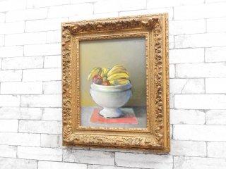 ピエール ドミニク ギス Pierre Dominique Giess スープ皿の果物 額装品 フランス 油絵 アート  芸術 ●